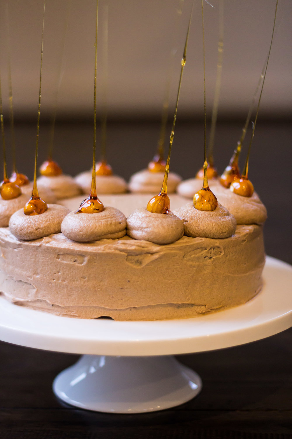 Chocolate Hazelnut Cake with Mocha Buttercream and Toffee Hazelnuts -
