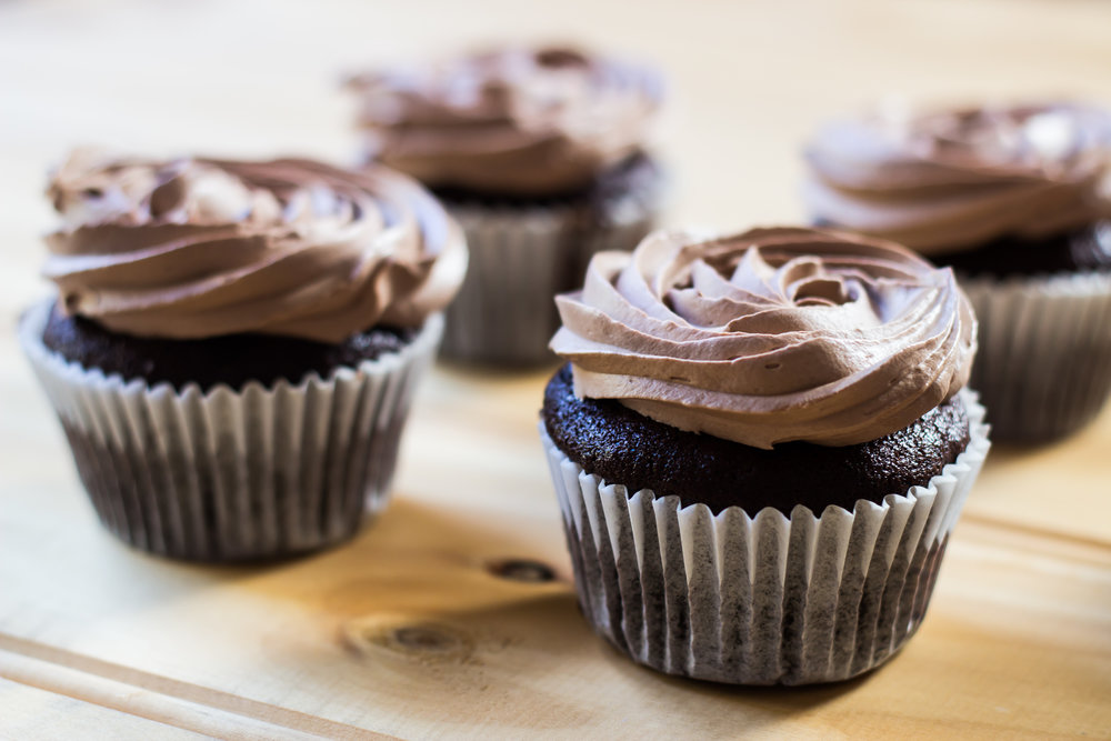 Easy Chocolate Cupcakes -