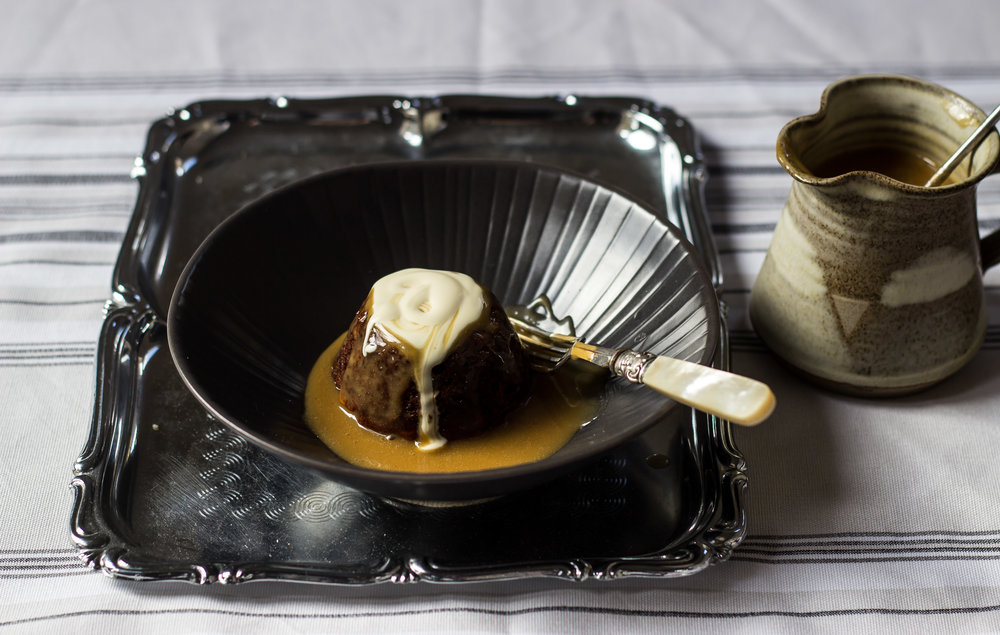 Sticky Date and Walnut Puddings with Salted Butterscotch Sauce -
