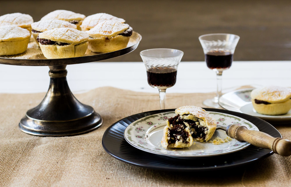 Chocolate and Cherry Mince Pies -