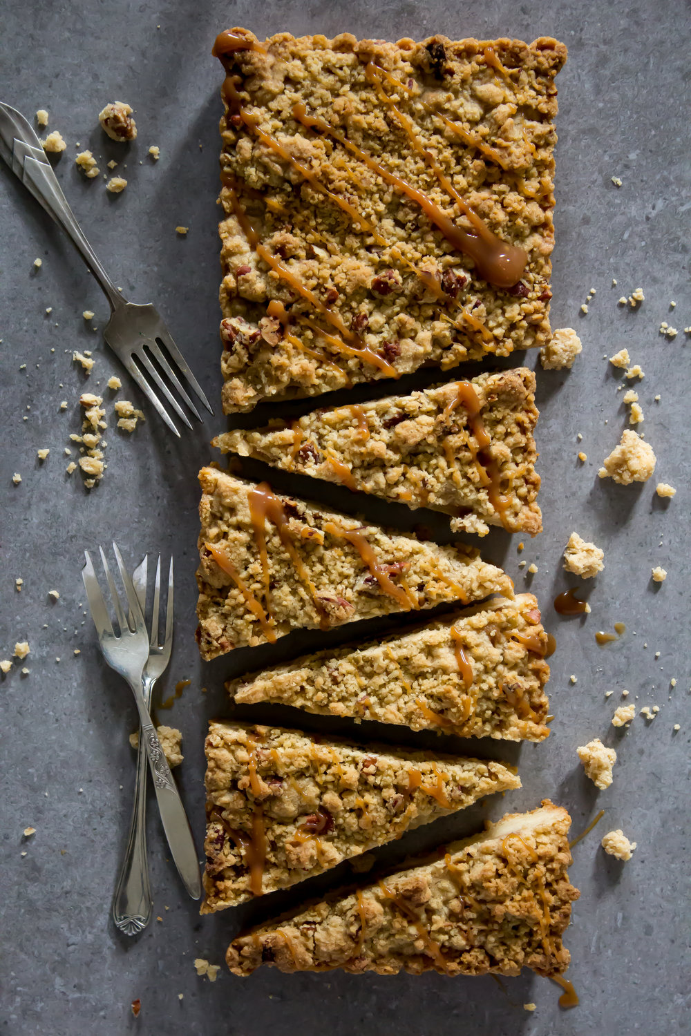 Salted Caramel and Apple Crumble Slice -