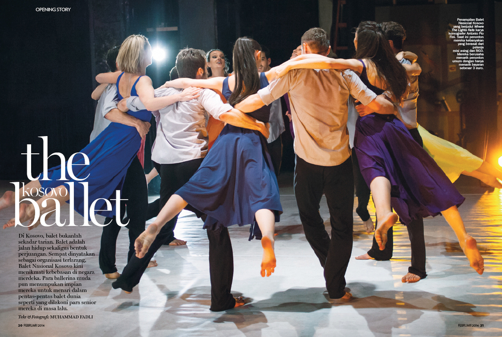 The Kosovo Ballet in Marie Claire Indonesia  February 2014