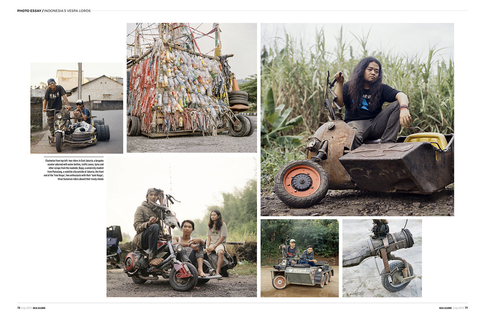 Rebel Riders (Indonesia's Extreme Vespa) in  SEA Globe Magazine  July 2017