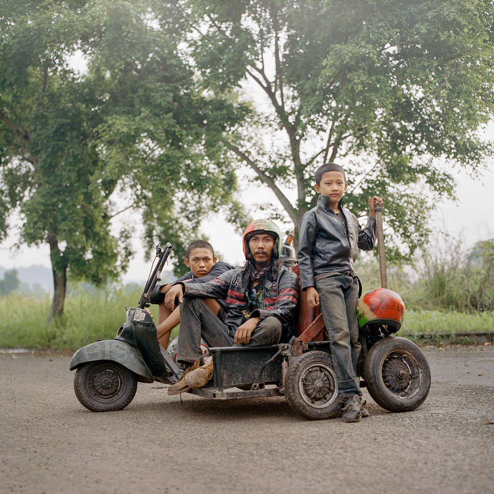 Rebel Riders Portrait, Lampung, Indonesia, 2017 From the project Rebel Riders Digital C-Print 100x100cm (edition of 20)