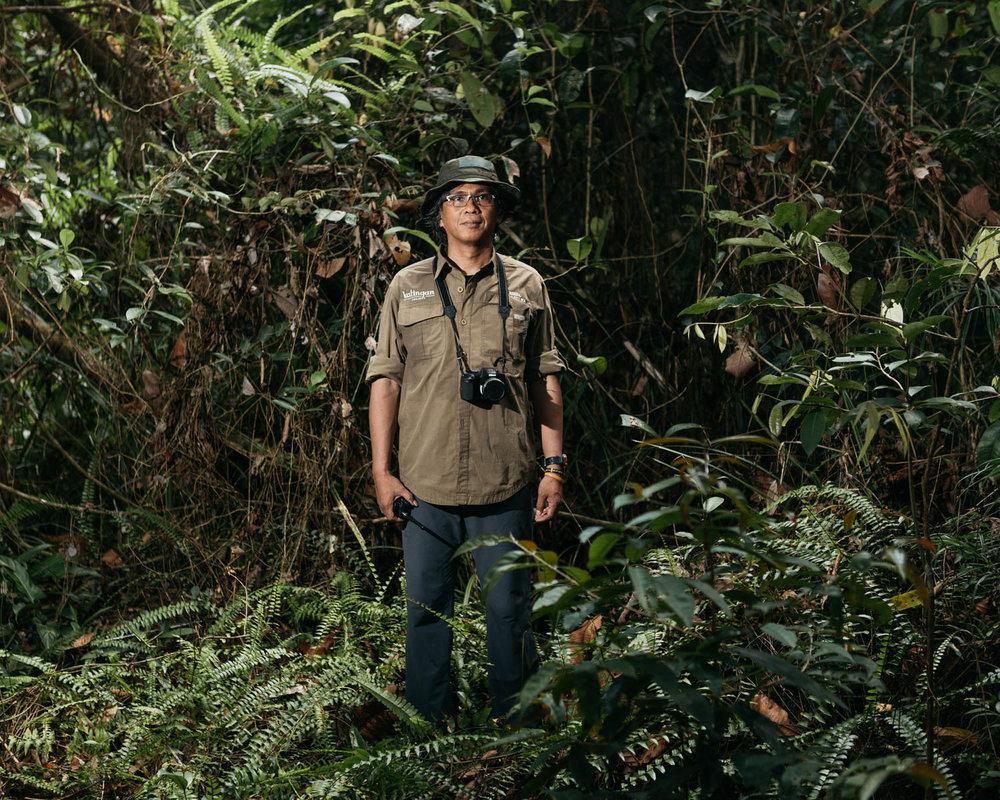 Portrait of Meyner Nusalawo, Protection and Enforcement Manager of PT Rimba Makmur Utama.