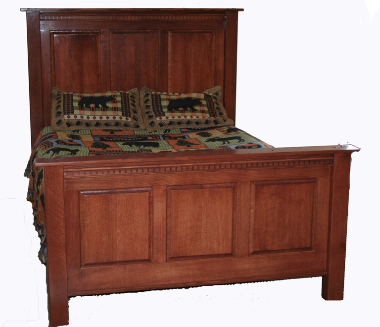Amish Inspired Oak Heritage Bed