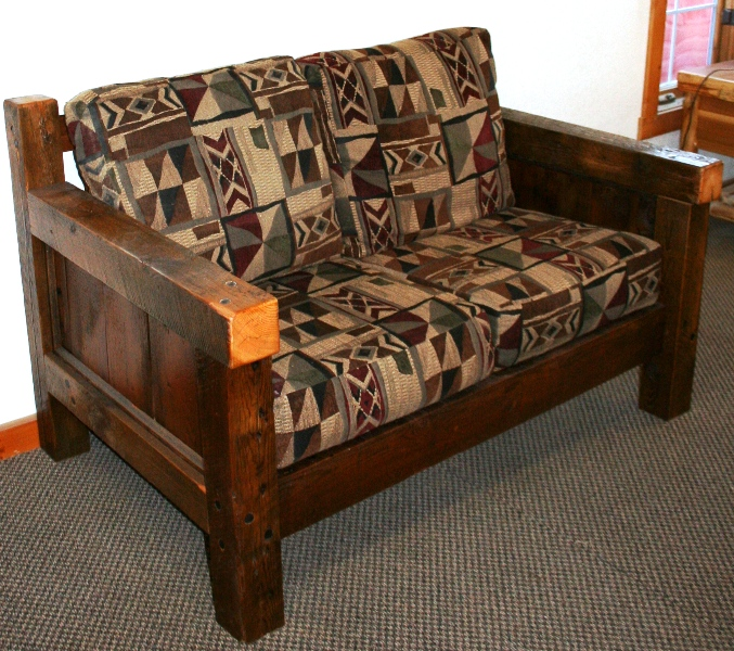Barn Wood Love Seat