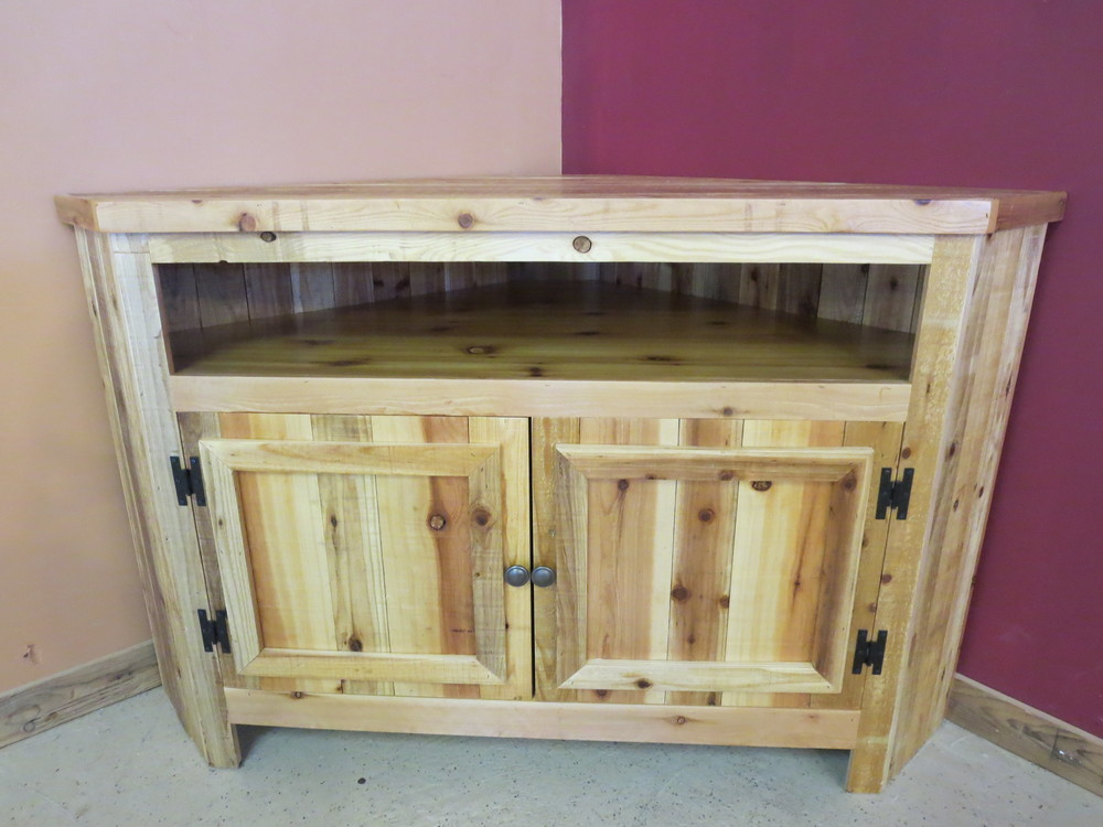 Reclaimed Wood Corner Tv Stand Barnwood Furniture Designs