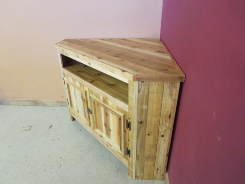 Reclaimed Wood Corner Tv Stand Barnwood Furniture Designs