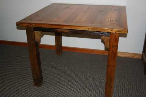 Barnwood Bar Pub Table BarnWood Furniture Designs - Barnwood bar table