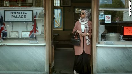 Mariah Idrissi in a scene from the video.