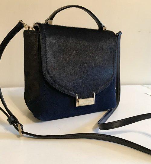 Preferred Kate Spade Navy Miro Street Keran Calf-Hair Crossbody Bag  SK26