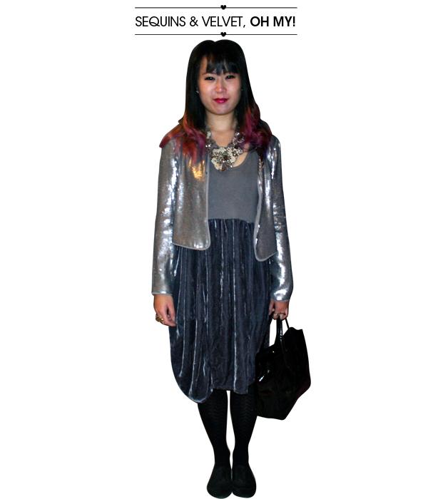 sequins and velvet
