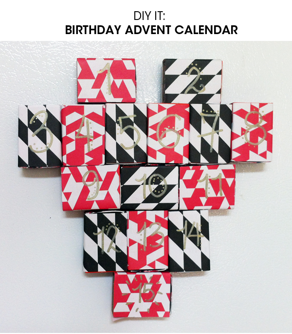 diy birthday advent calendar