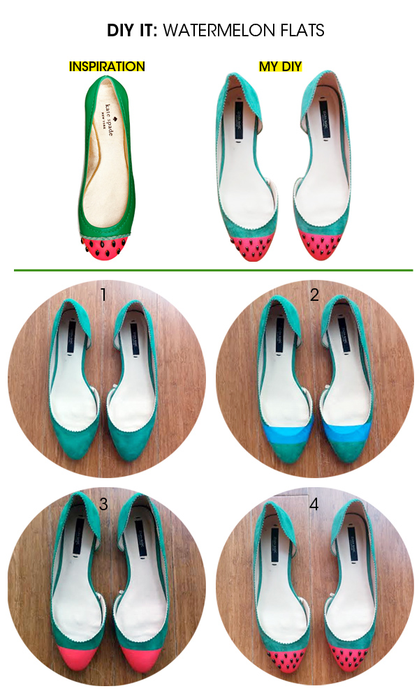 diy watermelon flats