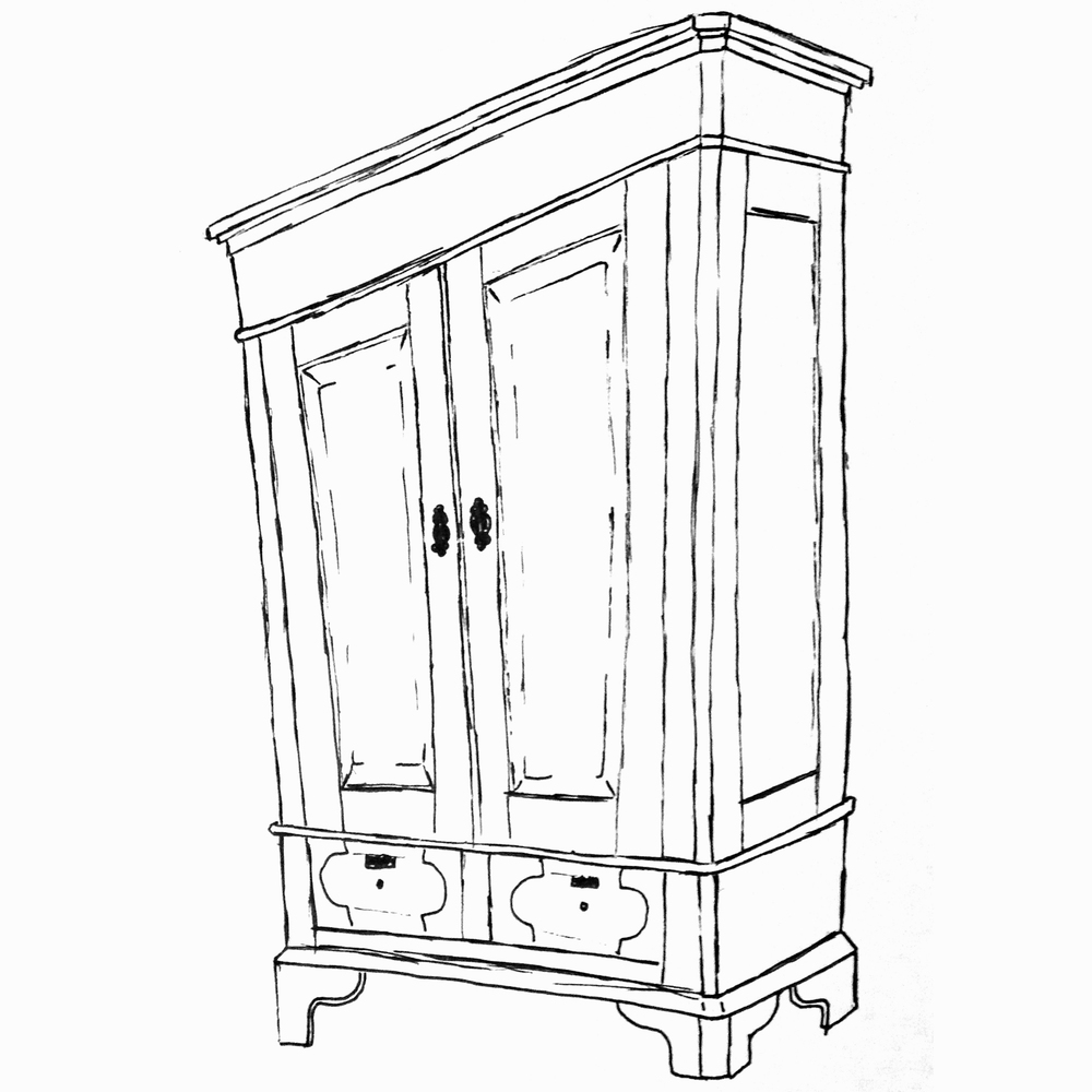 Largest selection online antique pine furniture for Sketch furniture online
