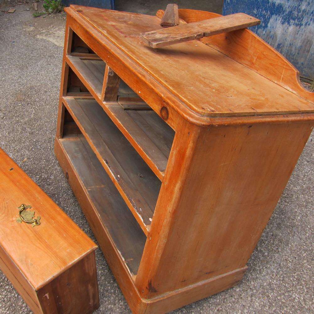 Antique pine chest of drawers in need of restoration