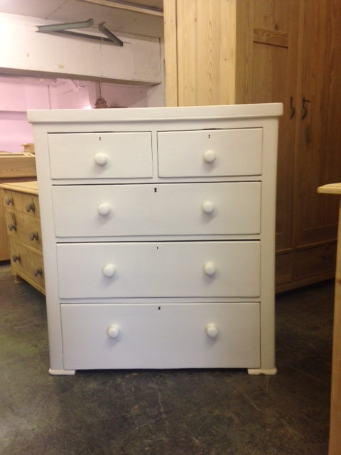painted Victorian chest of drawers