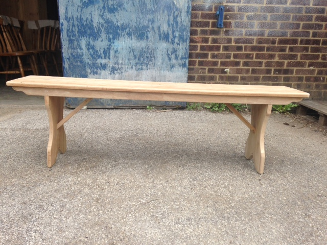 Oak bench made to measure