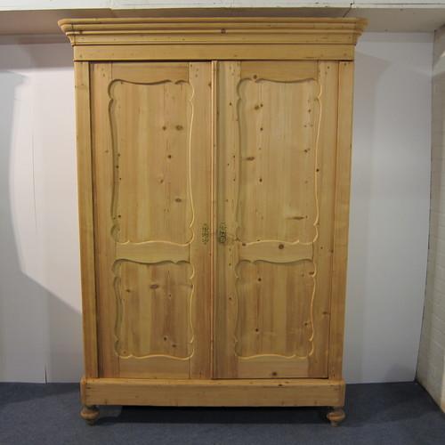 Antique Pine Storage Cupboard & Wardrobe (d8104d) - Antique Pine Storage Cupboard & Wardrobe (d8104d) — Pinefinders