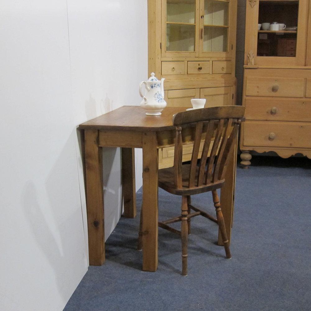 Small pine corner table