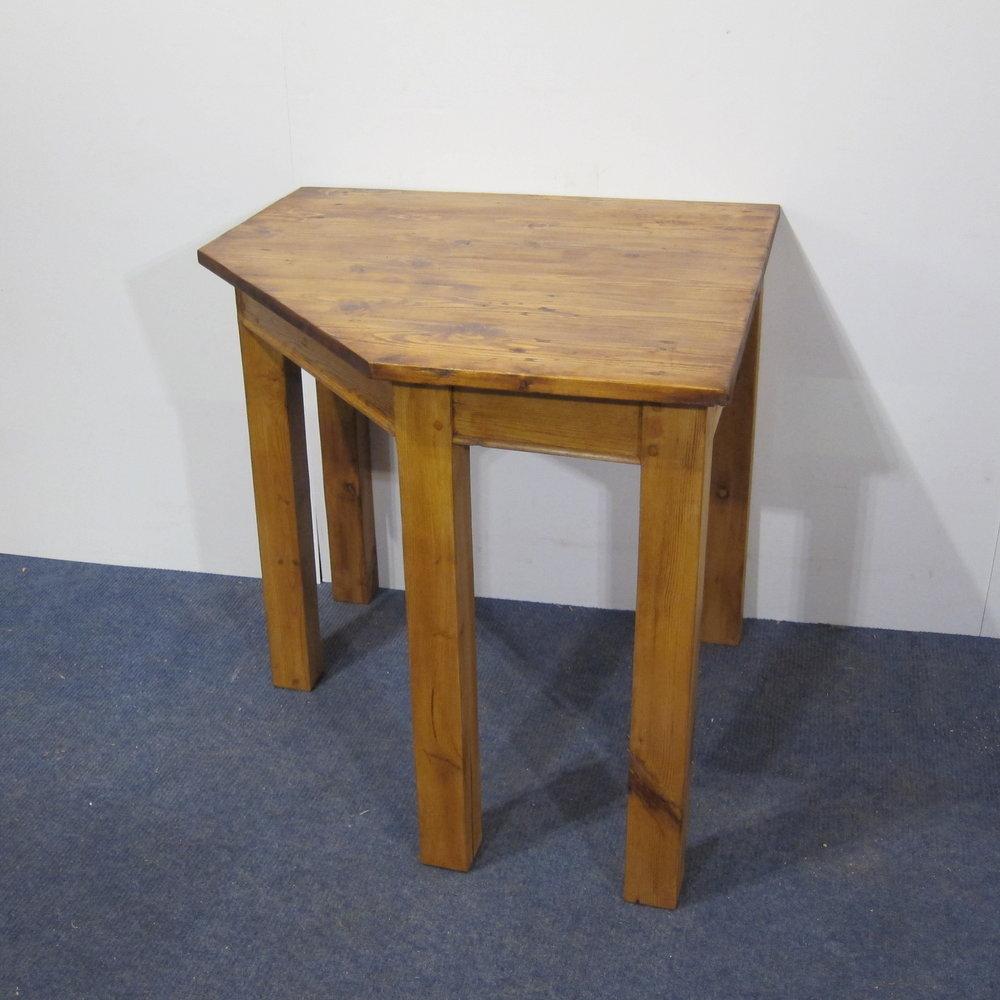 Small angled corner table