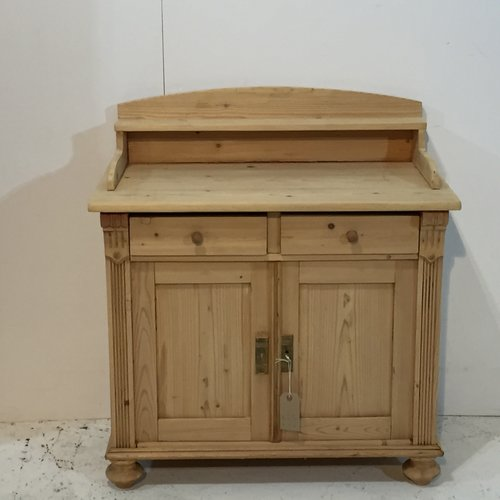 Small Antique Pine Cupboard (S1750B) - Small Antique Pine Cupboard (S1750B) — Pinefinders Old Pine