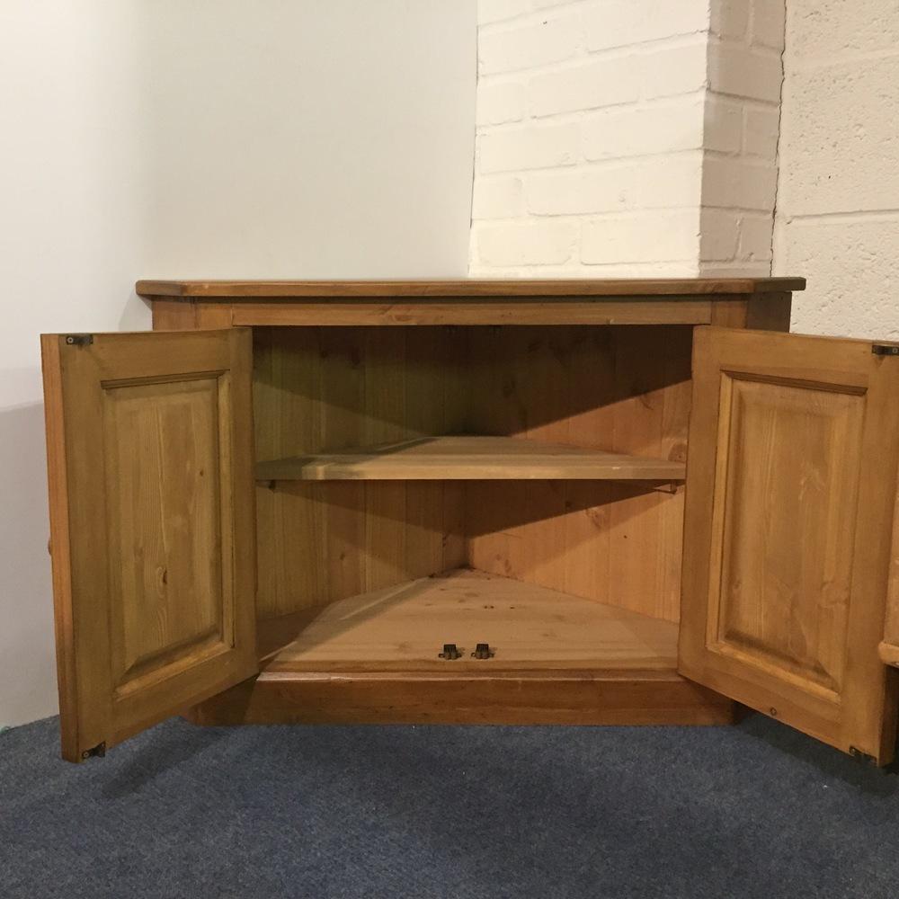 New pine corner cupboard - shelf inside
