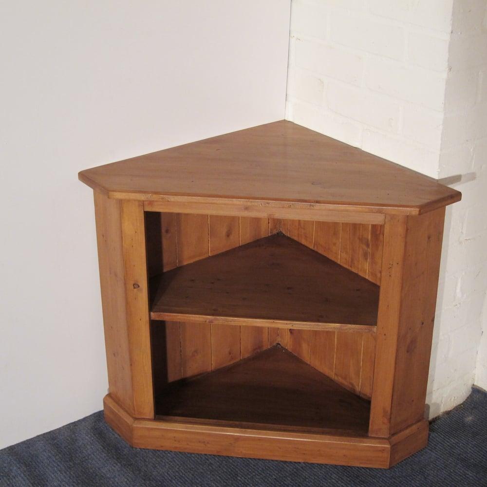 Small new pine tv corner cupboard