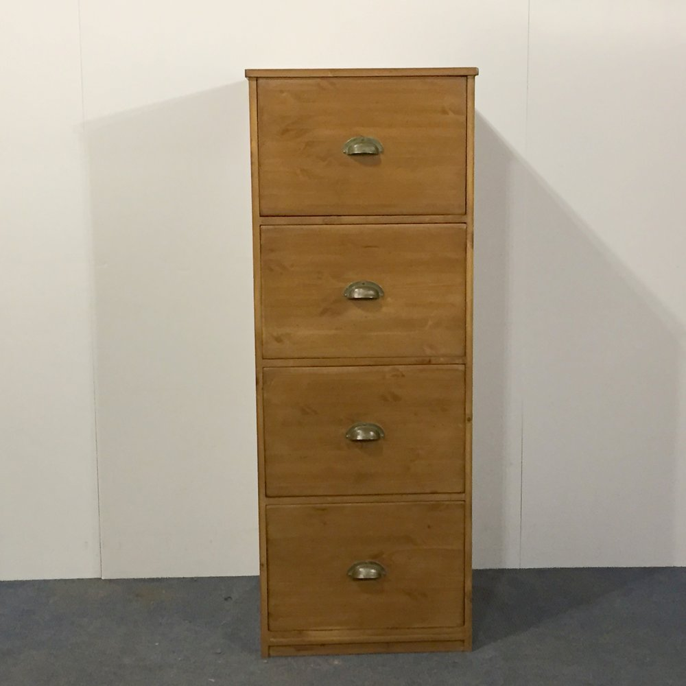 Pine filing cabinets made to measure