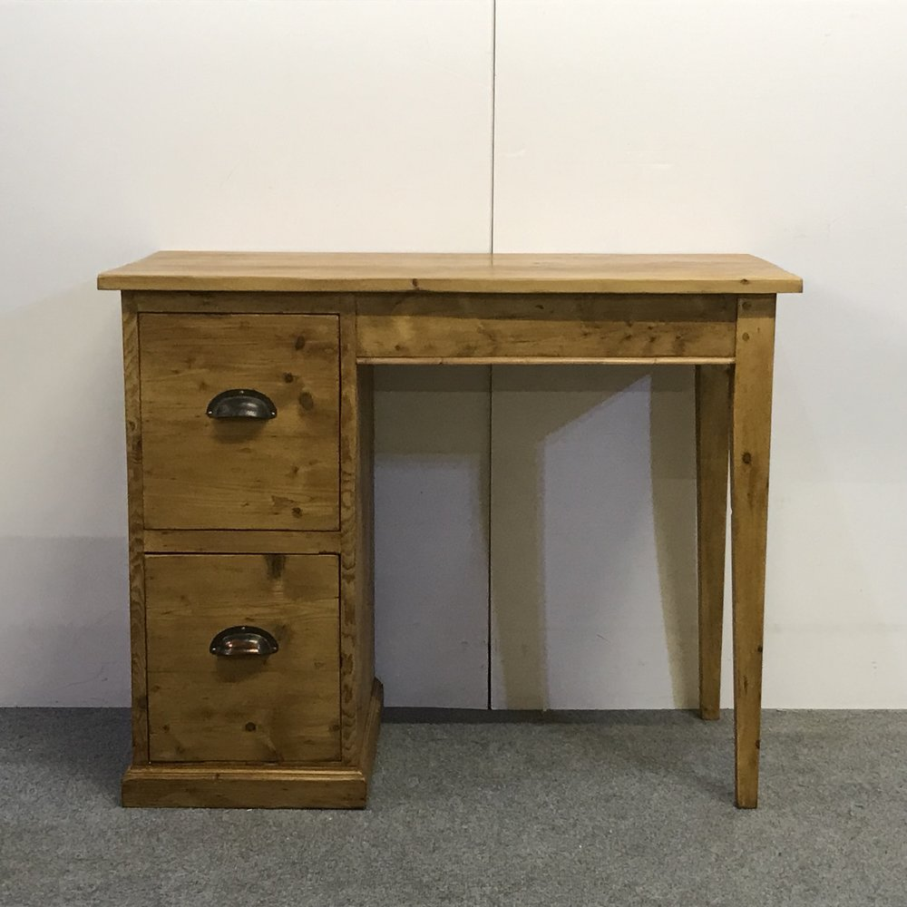Pine desk made from old pine floorboards
