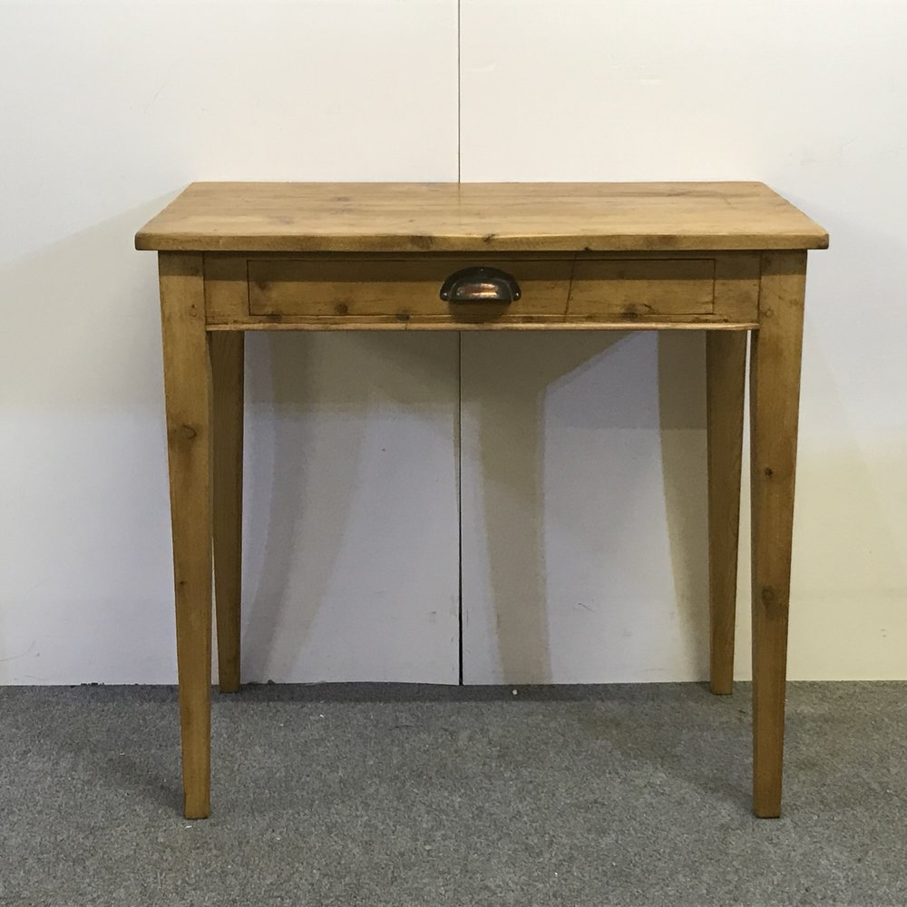 Small writing desk/side table made from old pine floorboards