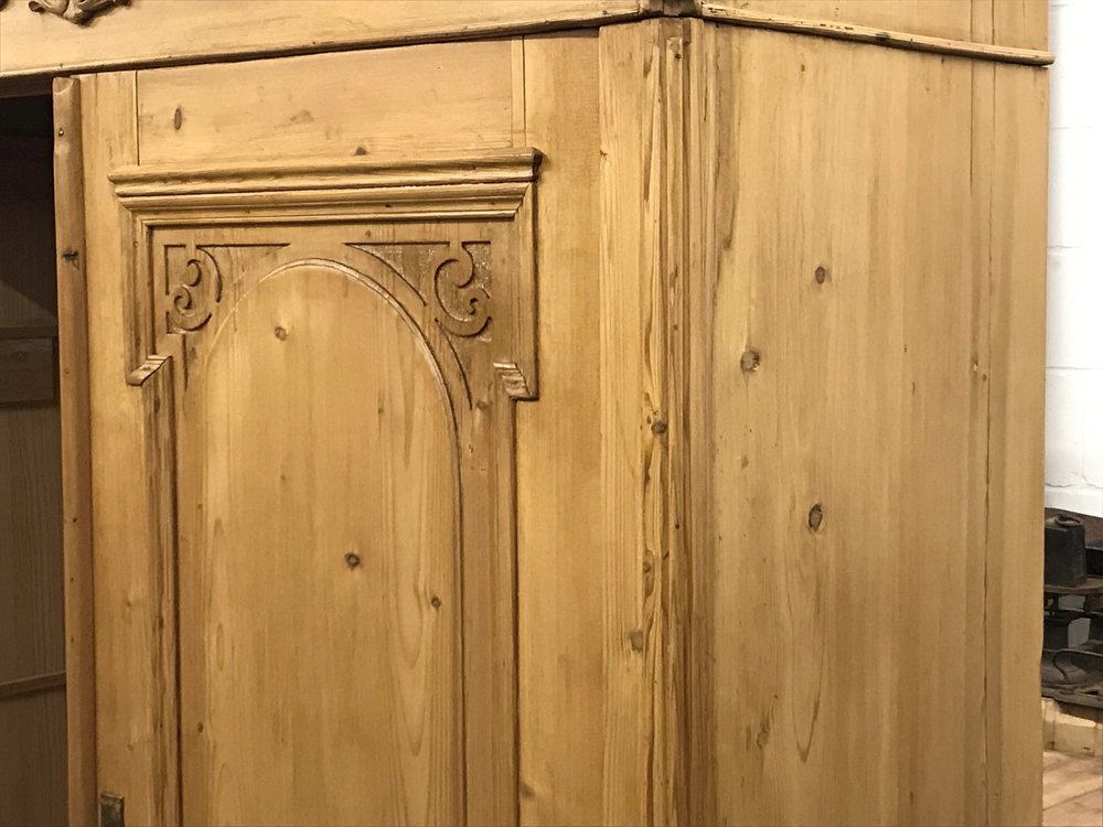 Wardrobe waxed in a Briwax - Antique Brown