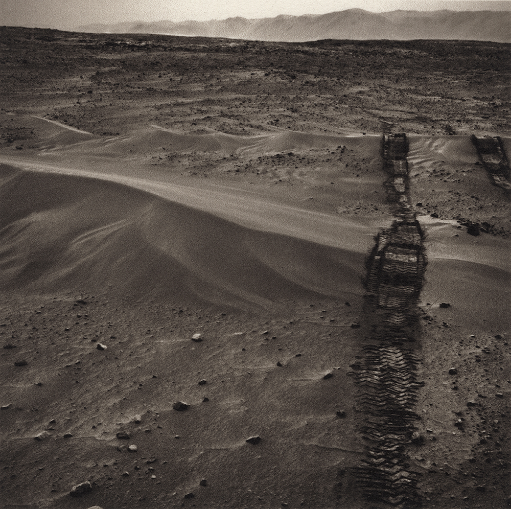 Appropriated mars rover based artwork, Platinum/Palladium Print