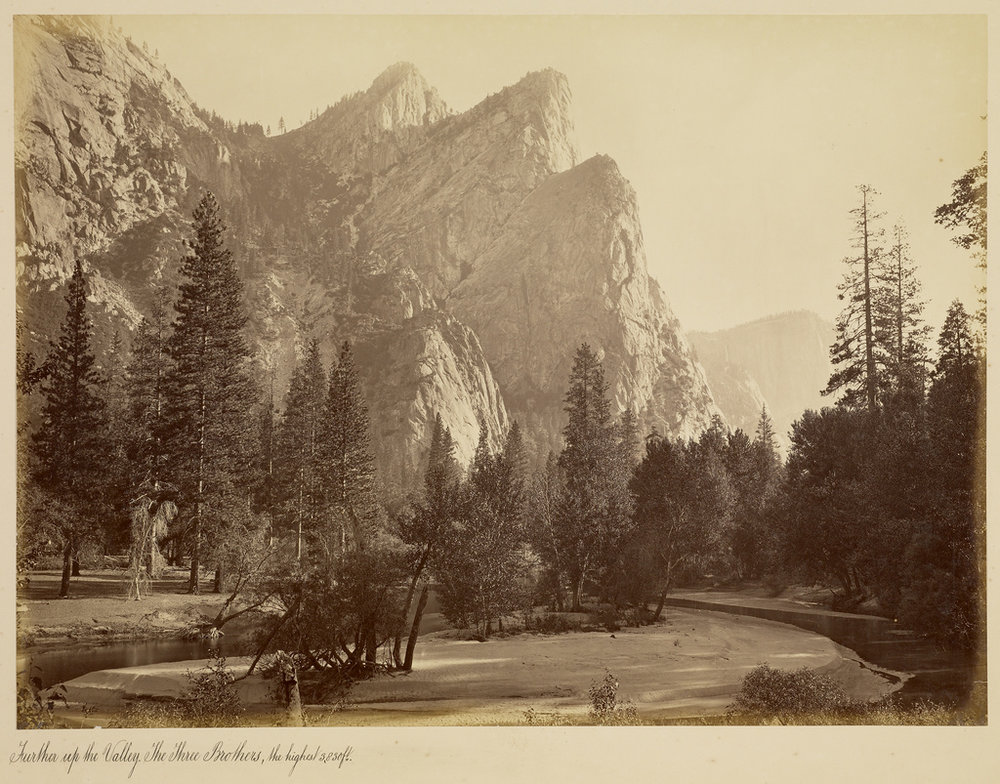 Carleton-Watkins-Yosemite Three Bothers.jpg