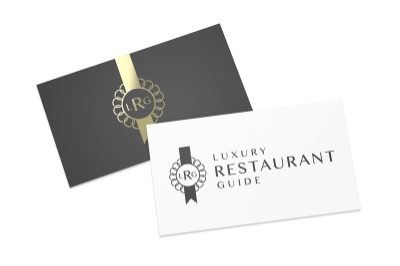 Luxury Restaurant Guide logo designed by Ian Paget