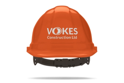 V  okes Construction logo design by Logo Geek