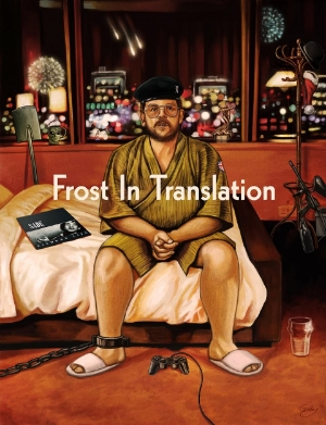 Nick Frost In Translation illustration by Sam Gilbey