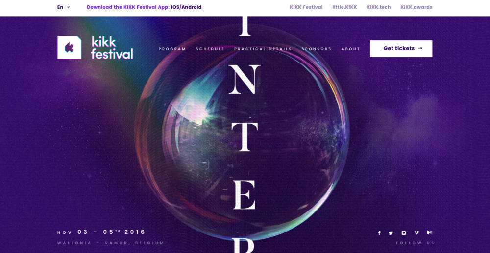 kikk festival website