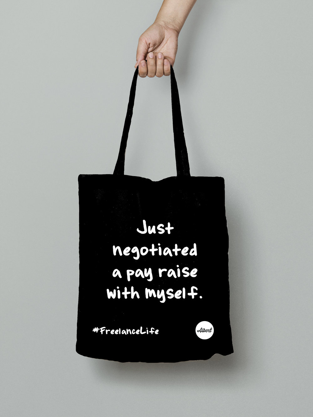 £8.50 - 'Just Negotiated...' - Black (White)