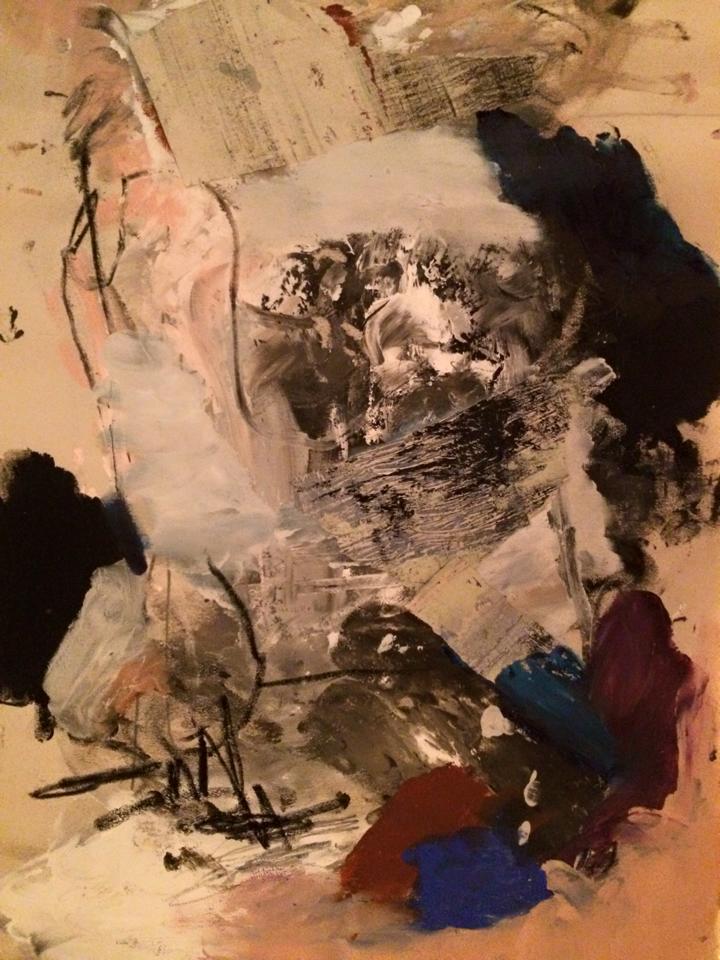 """Manabu Nitta - """"A Man"""" 65 x 50 cm"""