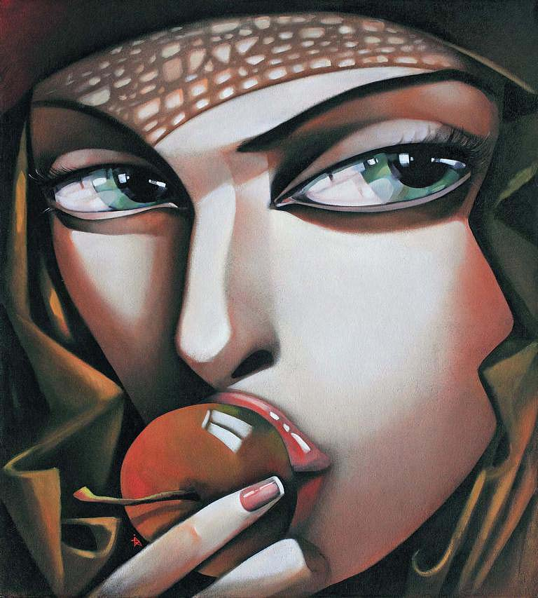 "Ira Tsantekidou - ""Versuchung"" //100 x 90 cm"