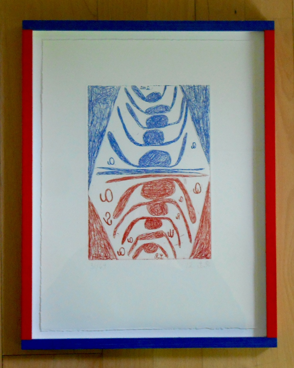 Tal R - Untitled -  2012 - etching- framed 33x42c