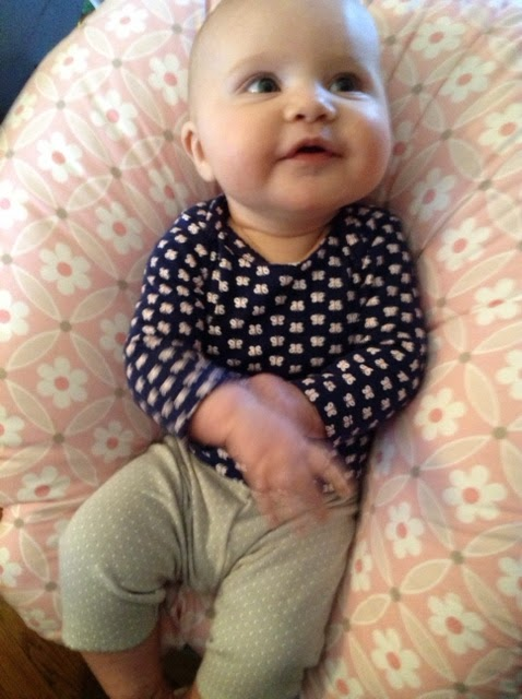 A recent favorite of Nora.  At 95 percentile for height/length, most of her pants look like this.