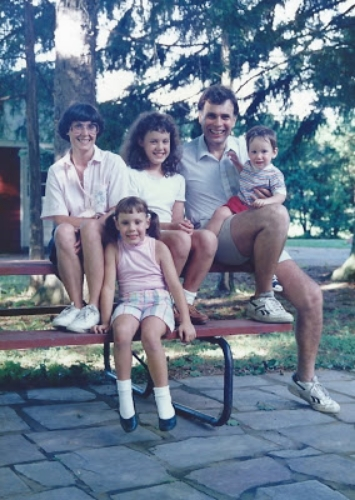 summer family photo circa 1989-ish, I know you're loving the sock/shoe combination