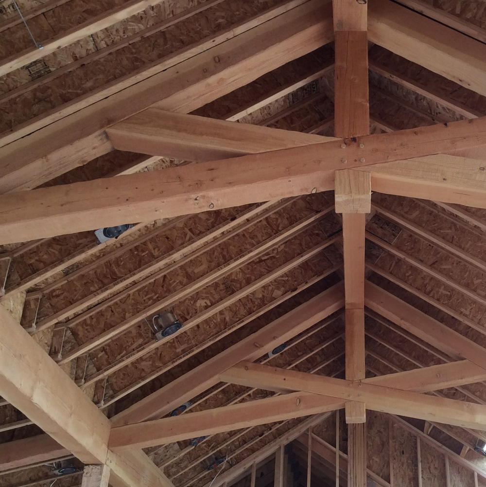 Great room timber & trusses from Outlaw.