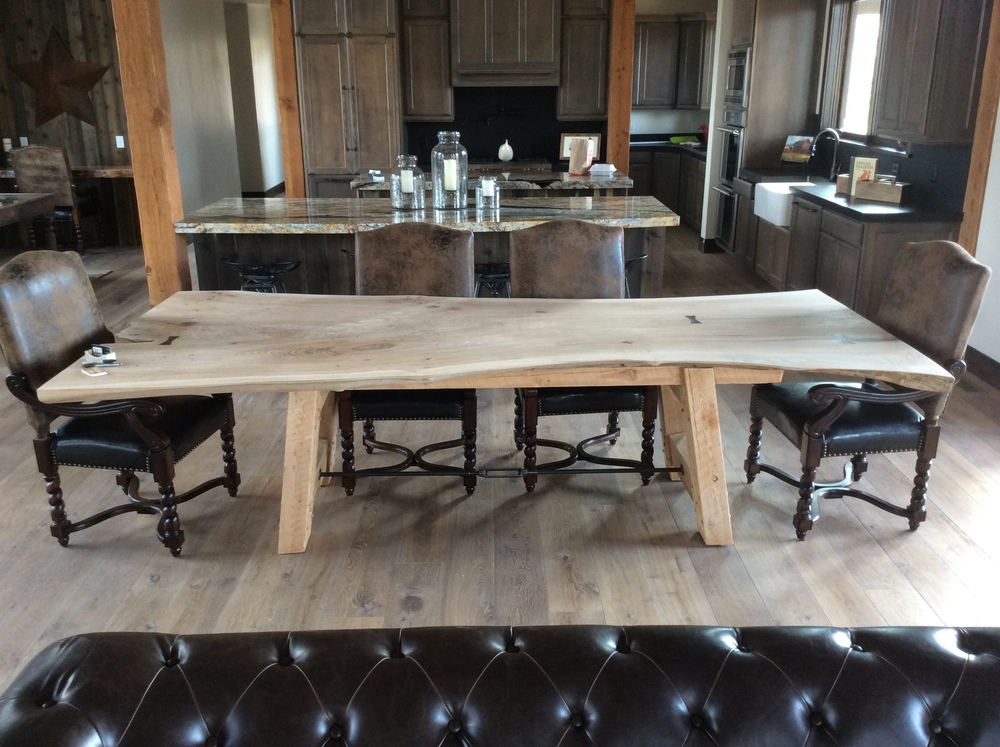 The 10 foot dining room table The Deerbridge House
