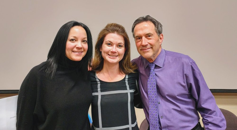 Dr. Randi Green pictured with Heidi Dickerson and Bill Dickerson, founder of the Las Vegas Institute for Advanced Dental Studies.