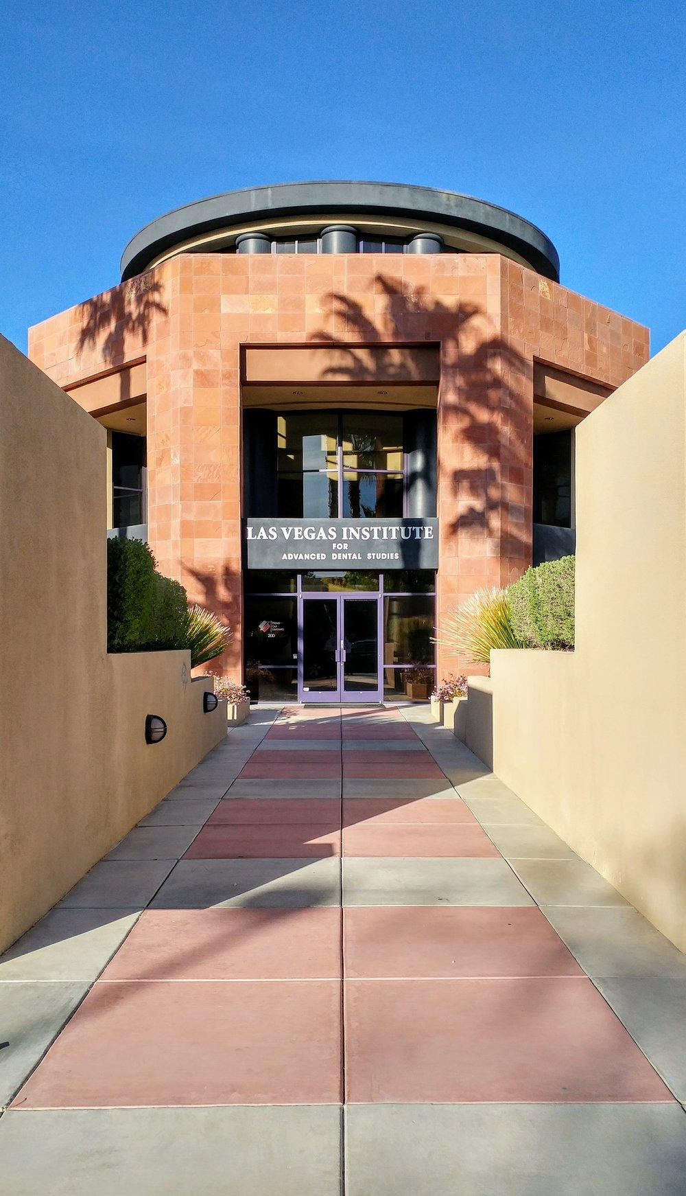 LVI Fellow Dr. Randi Green at the Las Vegas Institute, for Advanced Dental Studies on a Spring day before advanced training begins.