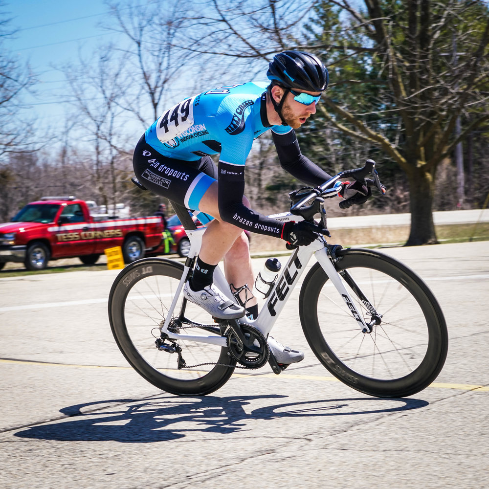 Derek Landwehr in the two-man break in the 3/4 race (Photo: Paul Vassalotti IG  @vassman11 )